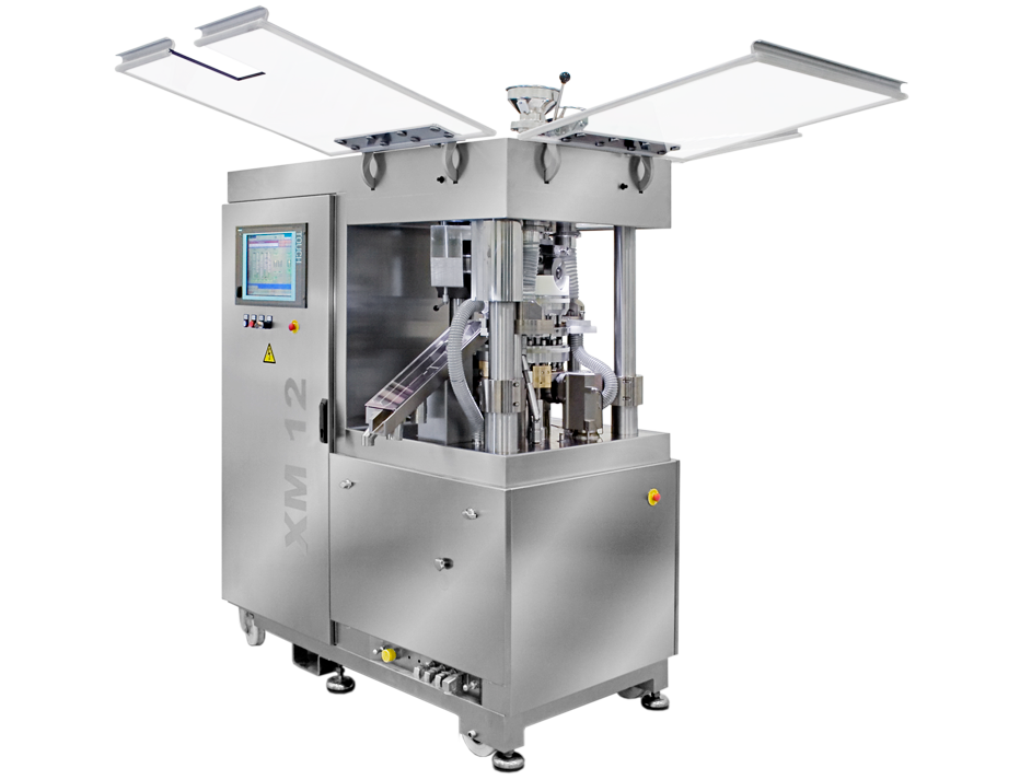 [Translate to Deutsch:] XM 12 Small-Scale 1-/2-Layer Tablet Press open