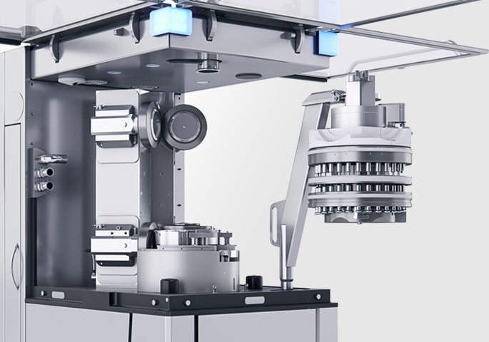 KORSCH X 3 Tablet Press: Exchangable Turret